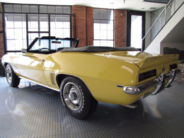 chevrolet camaro convertible 1969 yellow for sale 124679l505143 1969 chevrolet camaro 350 ss rs. Black Bedroom Furniture Sets. Home Design Ideas
