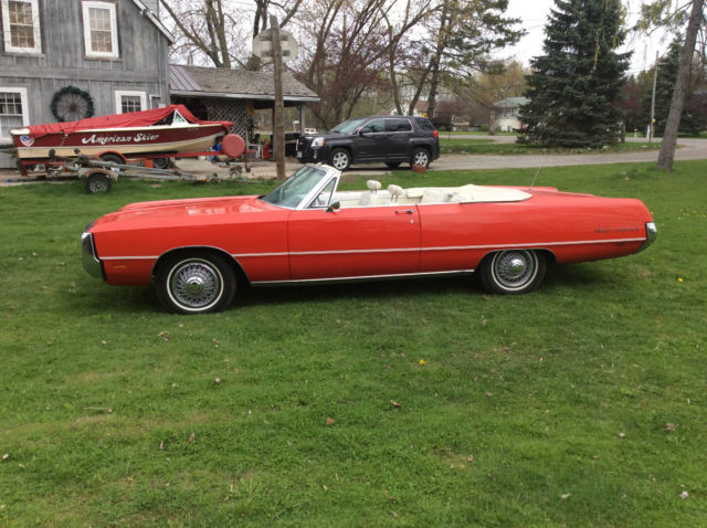 chrysler 300 series convertible 1969 red for sale 1969 chrysler 300 convertible pilot owned. Black Bedroom Furniture Sets. Home Design Ideas