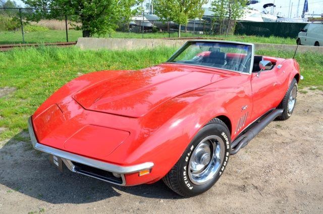 chevrolet corvette convertible 1969 red for sale 194679s734397 1969 corvette convertible. Black Bedroom Furniture Sets. Home Design Ideas