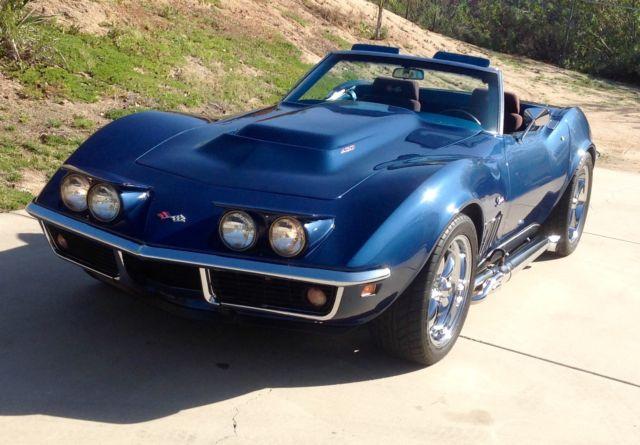 chevrolet corvette convertible 1969 blue w metal flake for sale 194679s711801 1969 corvette. Black Bedroom Furniture Sets. Home Design Ideas