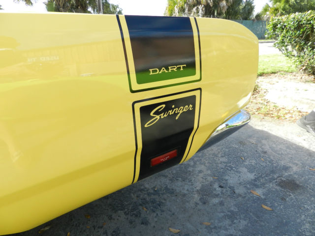 Words... super, Yellow 1969 dodge swinger can