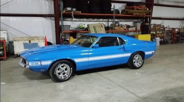 ford mustang coupe 1969 blue for sale 9f02m482124 1969 ford mustang gt350 shelby cobra used. Black Bedroom Furniture Sets. Home Design Ideas