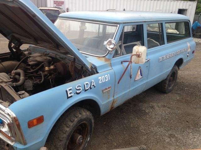 Gmc Suburban Carryall 1969 Blue For Sale 1969 Gmc Custom