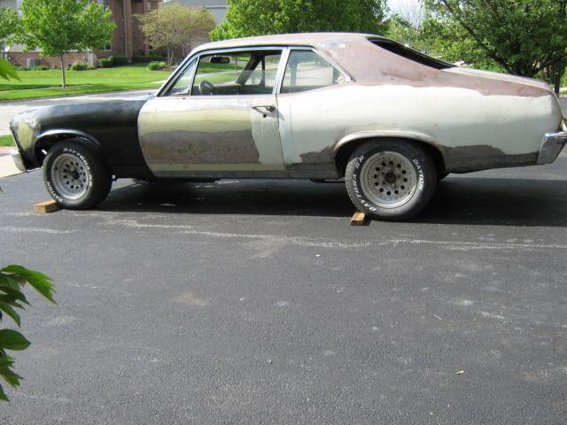 chevrolet nova coupe 1969 primer and raw metal for sale 1969 nova project car no rust no reserve. Black Bedroom Furniture Sets. Home Design Ideas