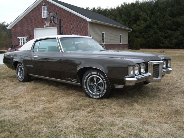 pontiac grand prix 2 dr hard top coupe 1969 expresso brown. Black Bedroom Furniture Sets. Home Design Ideas
