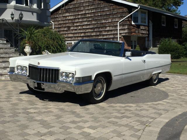 Cadillac Deville Convertible 1970 White For Sale F0177177 1970
