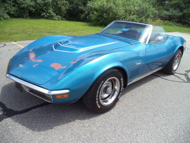 chevrolet corvette convertible 1970 mulsanne blue for sale 194670s413238 1970 corvette lt1. Black Bedroom Furniture Sets. Home Design Ideas