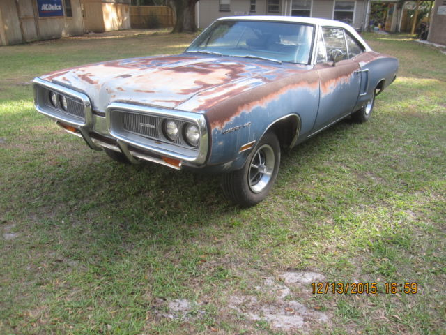 1970 Dodge Charger Rt Project Car Overall Solid Car For Sale: Dodge Coronet Coupe 1970 Blue For Sale. 1970 Dodge Coronet