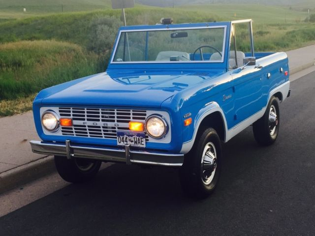 Ford Bronco Convertible 1970 Blue For Sale. U15GLH93536 ...