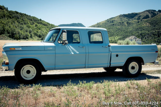 ford f 250 crew cab pickup 1970 blue for sale f25ycj50225 1970 fordfor sale 1970 ford f 250 1970 crew cab 360 v8 patina shop truck f100 f350