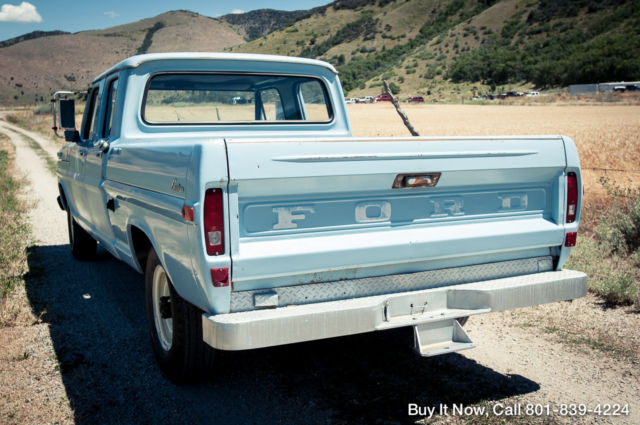 Ford F 250 Crew Cab Pickup 1970 Blue For Sale F25ycj50225 1970 Ford