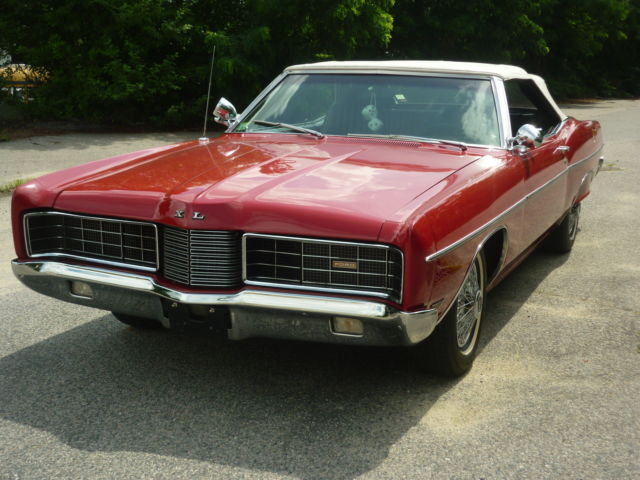ford galaxie convertible 1970 red for sale 0u61y105896 1970 ford galaxie 500 xl convertible. Black Bedroom Furniture Sets. Home Design Ideas