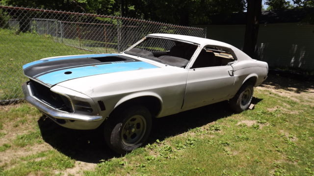 ford mustang 1970 for sale 0t02l166223 1970 ford mustang sportsroof fastback project car. Black Bedroom Furniture Sets. Home Design Ideas