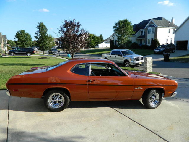 plymouth duster coupe 1970 fk5 burnt orange for sale