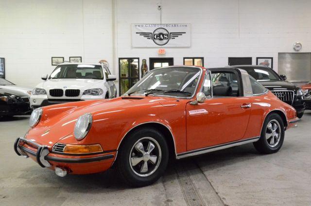 porsche 911 targa 1970 orange for sale 9110111012 1970. Black Bedroom Furniture Sets. Home Design Ideas