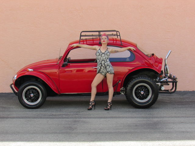 volkswagen beetle classic coupe  red  sale  vw beetle baja bug show car cc cr