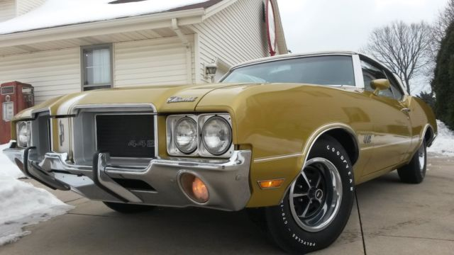 Oldsmobile 442 Convertible 1971 Gold For Sale