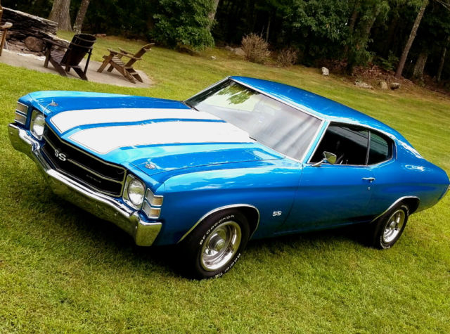 Chevrolet Chevelle Coupe 1971 Marina Blue For Sale 1971 Chevrolet