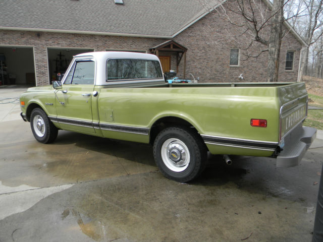 chevrolet c k pickup 2500 truck 1971 green white for sale 69 Chevy C20 Truck 4x4 1