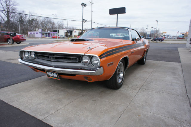 Dodge Challenger Convertible 1971 Orange For Sale Jh2761b384996