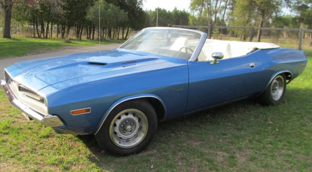 Dodge Challenger Convertible 1971 B5 Blue For Sale Jh27h1b415266