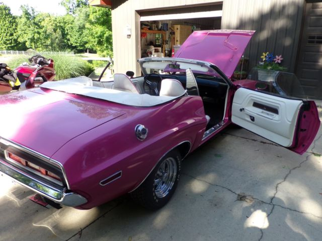 dodge challenger convertible 1971 panther pink for sale 1971 dodge challenger convertible. Black Bedroom Furniture Sets. Home Design Ideas