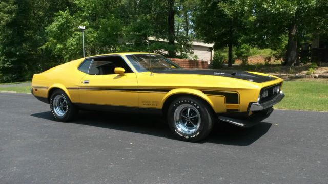 Cars For Sale Fresno Ca >> Ford Mustang Fastback 1971 Medium Yellow Gold For Sale. 1F02R146445 1971 Ford Mustang Boss 351 ...