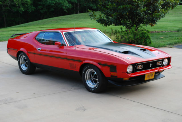 ford mustang fastback 1971 red for sale 1f05j151754 1971. Black Bedroom Furniture Sets. Home Design Ideas