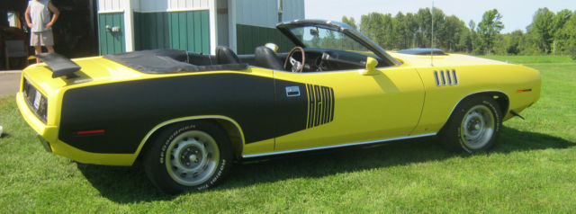 plymouth barracuda convertible 1971 yellow for sale bh27g1bxxxxxx 1971 plymouth cuda 426 hemi. Black Bedroom Furniture Sets. Home Design Ideas