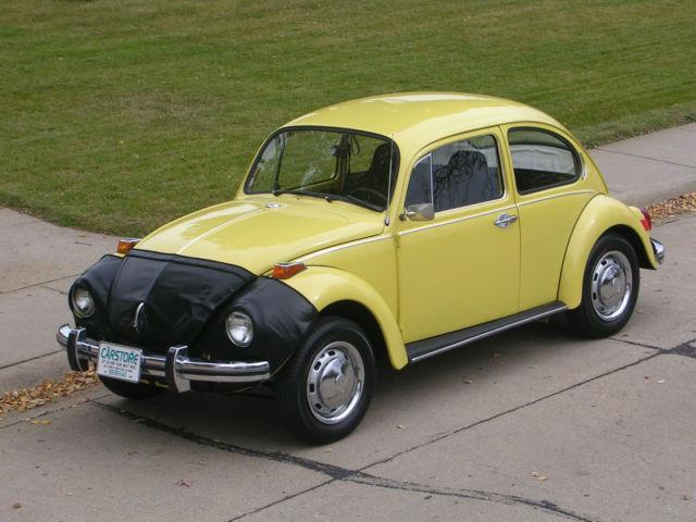 volkswagen beetle classic sedan 1971 yellow for sale 1112359100 1971 volkswagen classic super. Black Bedroom Furniture Sets. Home Design Ideas
