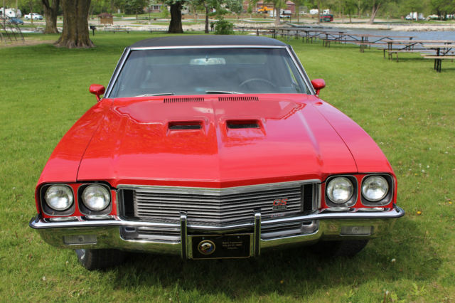 Buick Skylark Coupe 1972 RED WITH BLACK VINYL TOP For Sale ...