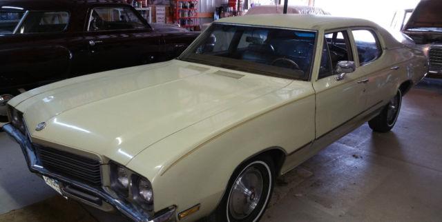 Buick Skylark Sedan 1972 Covert Tan For Sale 4d69h2h103038 1972 Buick Skylark 350 4 Door Sedan