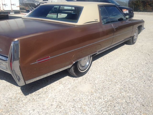 Cadillac Deville Coupe 1972 Brown For Sale 6d49r2q280633