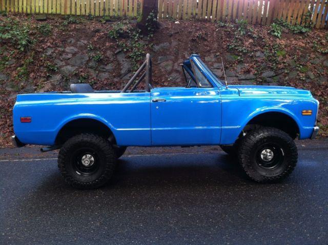 Chevrolet Blazer Convertible 1972 Blue For Sale  1972 Chevrolet K5 Blazer  Manual  4x4  Chevy