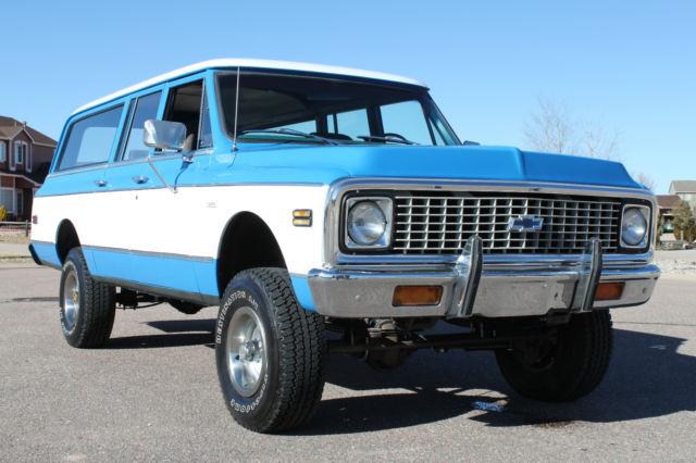 Chevrolet Suburban 1972 Blue White For Sale