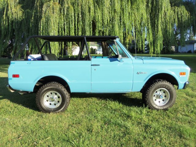 chevrolet blazer 1972 blue for sale cke182s172549 1972 chevy k5 blazer 4x4 350 sbc custom roll. Black Bedroom Furniture Sets. Home Design Ideas