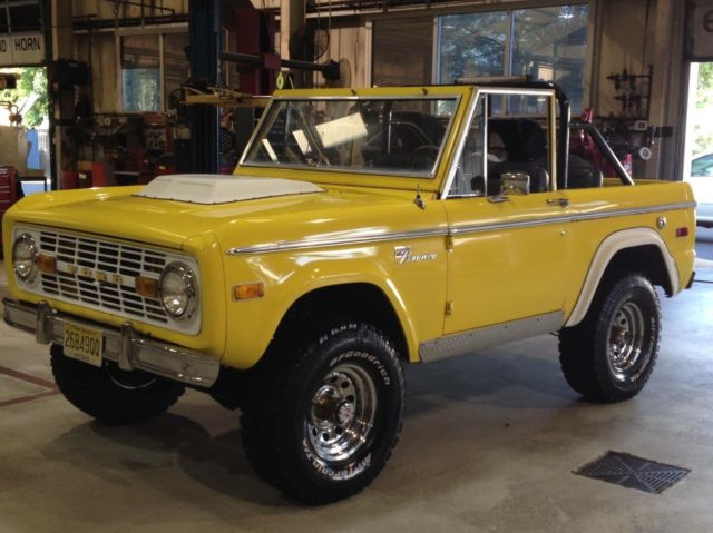 ford bronco convertible 1972 yellow for sale u15gln47004 1972 classic ford bronco early ford. Black Bedroom Furniture Sets. Home Design Ideas