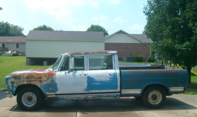 Used Car Lots In Nashville Tn International Harvester Other Extended Crew Cab Pickup 1972 Blue/White ...