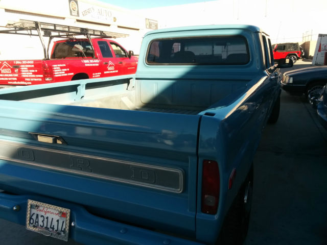 1972 Ford F100 Exhaust System : Ford f extended crew cab pickup blue for sale
