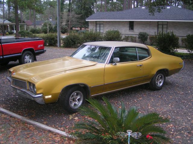 buick skylark coupe 1972 gold for sale 4d37j2h180972 1972 skylark buick 350 2dr coupe sheltered. Black Bedroom Furniture Sets. Home Design Ideas
