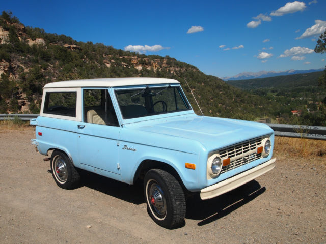 Ford Bronco 1972 Baby Blue For U15gln05805 Uncut 100 Stock