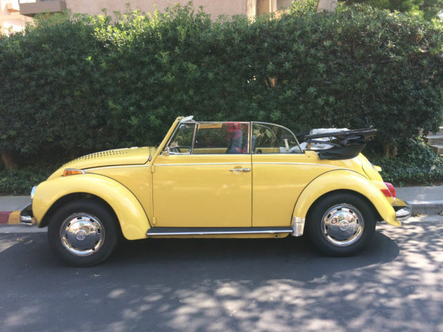 volkswagen beetle classic convertible 1972 yellow black top for sale 1522432616 1972 vw super. Black Bedroom Furniture Sets. Home Design Ideas
