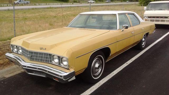 chevrolet impala sedan 1973 yellow for sale 1l69h3y165053 1973 chevrolet impala 4 door sedan. Black Bedroom Furniture Sets. Home Design Ideas