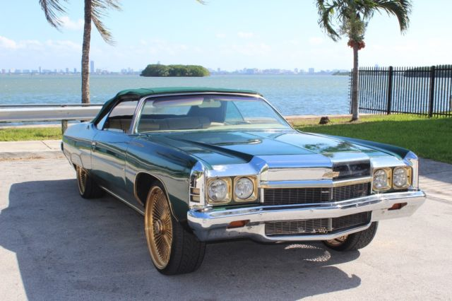 chevrolet impala convertible 1972 green for sale 1973 chevrolet impala customized. Black Bedroom Furniture Sets. Home Design Ideas