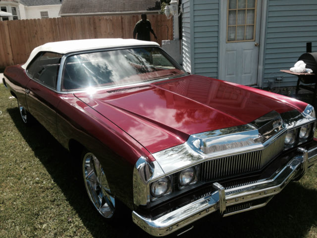 chevrolet impala convertible 1973 burgundy for sale 1n67y3165225 1973 chevy caprice convertible. Black Bedroom Furniture Sets. Home Design Ideas