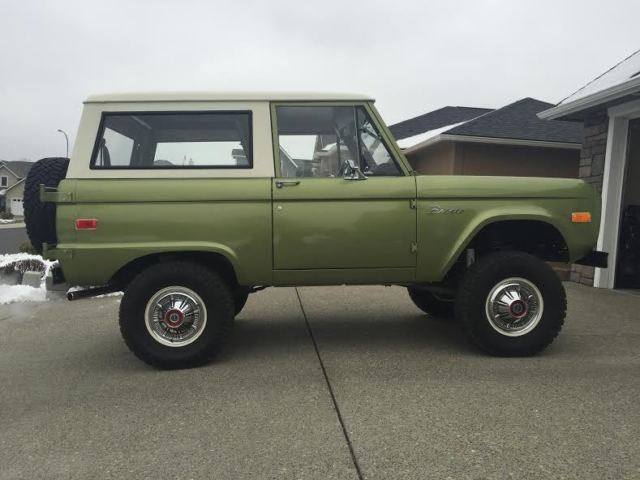 Ford Bronco CONVERTIBLE 1973 LIME GREEN METALLIC For Sale ...