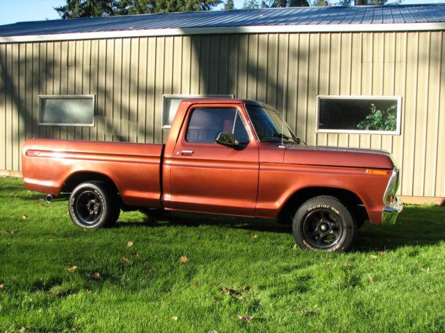 ford f 100 1973 metallic copper for sale 1973 ford f100 short wide bed 2wd hotrod truck 302 v8. Black Bedroom Furniture Sets. Home Design Ideas