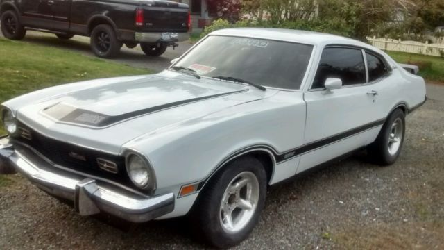 ford other coupe 1973 white for sale 3k91l179852 1973 ford maverick grabber trim new paint. Black Bedroom Furniture Sets. Home Design Ideas