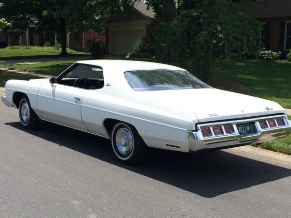 chevrolet impala 1973 white for sale 1l57h3j199379 1973 impala 2 door with 8000 original miles. Black Bedroom Furniture Sets. Home Design Ideas