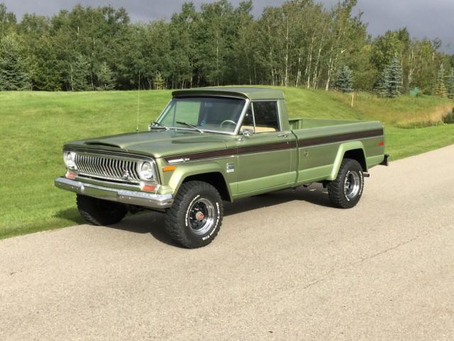 jeep j4000 pickup 1973 green for sale 1973 jeep j 4000 4x4 pickup truck rare when 39 s last time. Black Bedroom Furniture Sets. Home Design Ideas